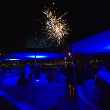 Jubileumfeest op varende feestlocatie Rotterdam